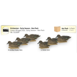 Green-Winged Teal -Early Season - Hen Pack