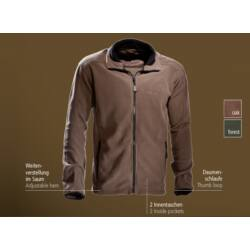 Outfox Casual polár kabát, oak (barna)