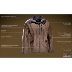 Outfox Extreme kabát, oak (barna), 62