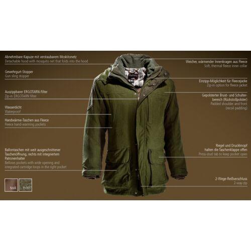 Outfox Performance kabát, teak (barna)