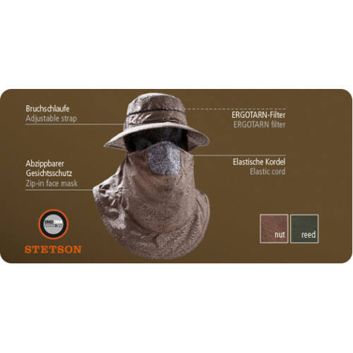 Outfox Protect kalap arcvédővel, reed, M
